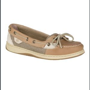 Sperry Angelfish Boat Shoes in Linen Oat Size 7.5